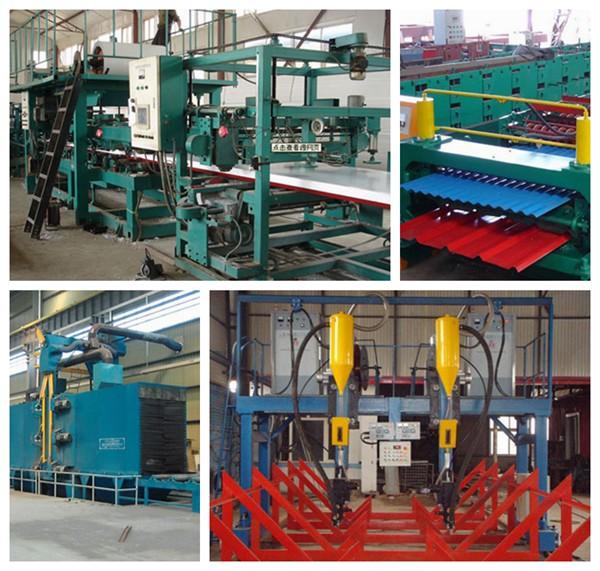 中捷彩钢公司生产设备展示